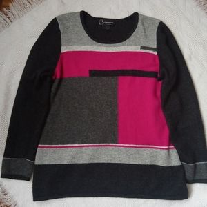 Bloomingdale's Color Block Cashmere Sweater
